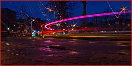 Utrechtse bussen met de nieuwe lijninfo