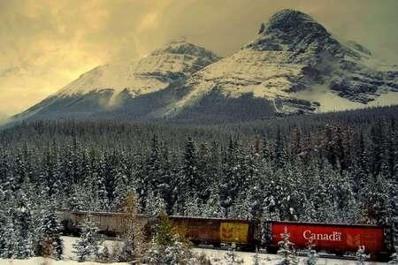 Canada - De eerste sneeuw in Canada begin oktober, een week ervoor op dezelfde plek was het nog ruim 20 graden - foto door daniel87 op 26-11-2009 - deze foto bevat: sneeuw, landschap, canada