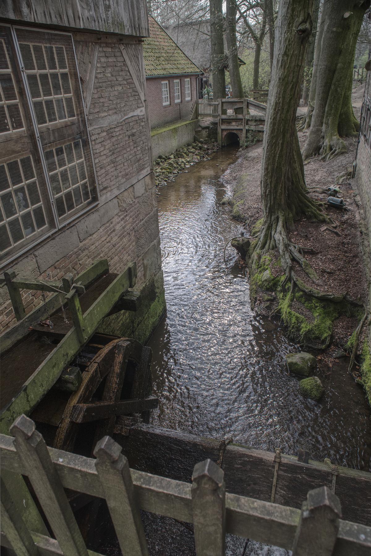 Molen Bels - Een van de zeer weinige watermolens in Nederland - foto door MichaelG5 op 21-04-2021 - locatie: 7661 Vasse, Nederland - deze foto bevat: landelijk, beek, watermolen, water, watervoorraden, venster, boom, gebouw, fabriek, waterloop, hout, bank, waterweg