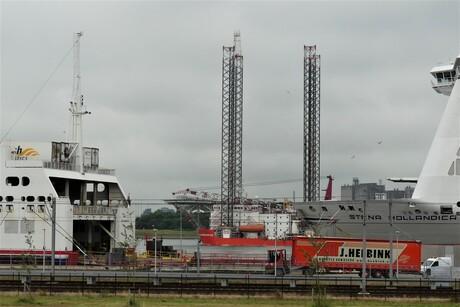 P115o732  H v H   Stena line lokatie  Werkschip Tussendoortje  op 2 juli 2021