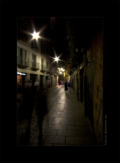 On the street