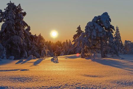 Winter - winter komt er aan , voor proefje - foto door wimvandijk_zoom op 01-12-2013 - deze foto bevat: sneeuw, winter, zonsondergang