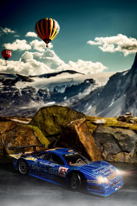 Mercedes-Benz CLK-GTR Race Car '98 1-18