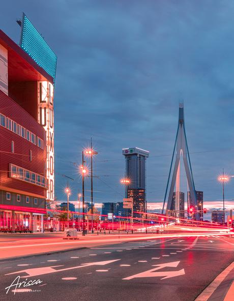 Lampjes in Rotterdam