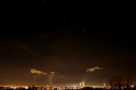 Nachtelijk uitzicht Maassluis