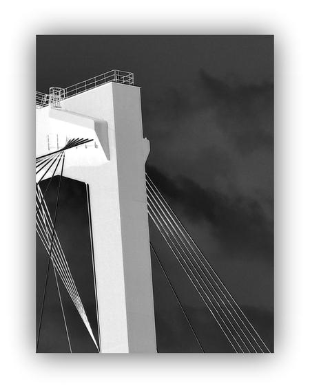 Lijnen constructie - ROTTERDAM _ Willemsbrug - foto door 1103 op 17-06-2018 - deze foto bevat: creatief, bewerkingsuitdaging, constructie willemsbrug