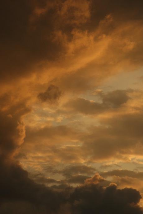 Wolken schilderij