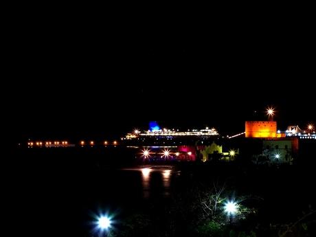 Mandraki Harbor By Night