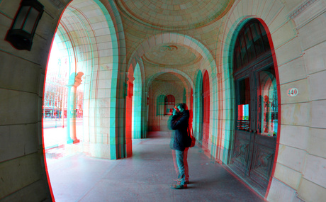 Bordes Stadhuis Rotterdam 3D Fish-eye
