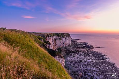 Normandische zonsondergang