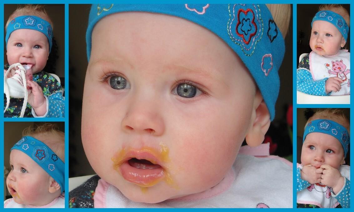 Lekker eten - Tamar is een lekkerbekkie - foto door mariah1982 op 14-05-2010 - deze foto bevat: baby