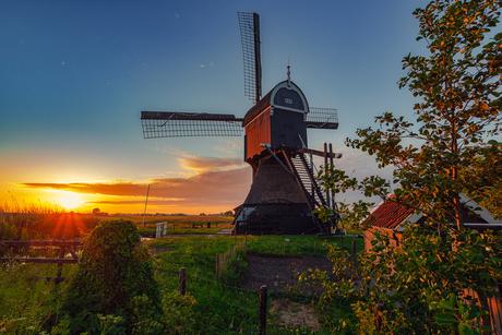Sfeervol nederlands landschap
