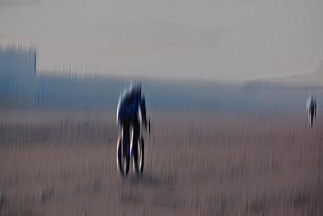 De eenzame fietser ...