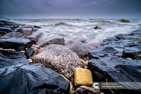 Storm aan het IJsselmeer