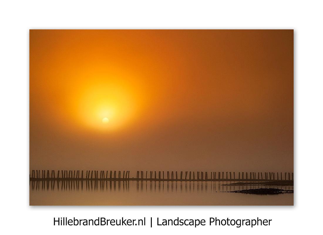 Goud! - 's Ochtends vroeg op het Wad. In het donker en in de mist op pad. Dan prikt de zon er door. Pure magie!  Grt. Hillebrand - foto door Hillebrand op 07-09-2014