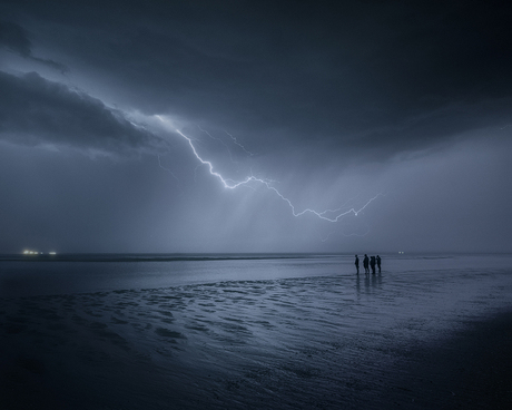 de nacht van de bliksem