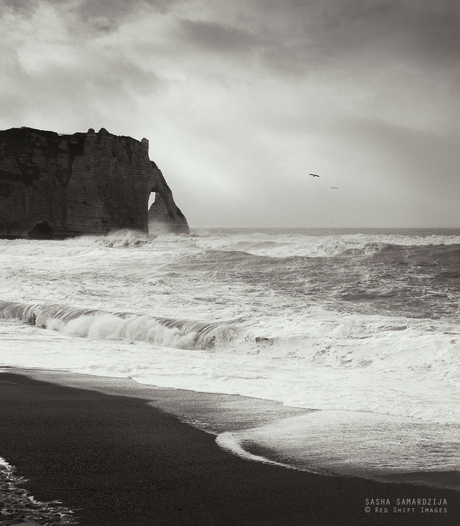 After storm in Etretat