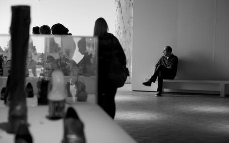 Wachten in het museum