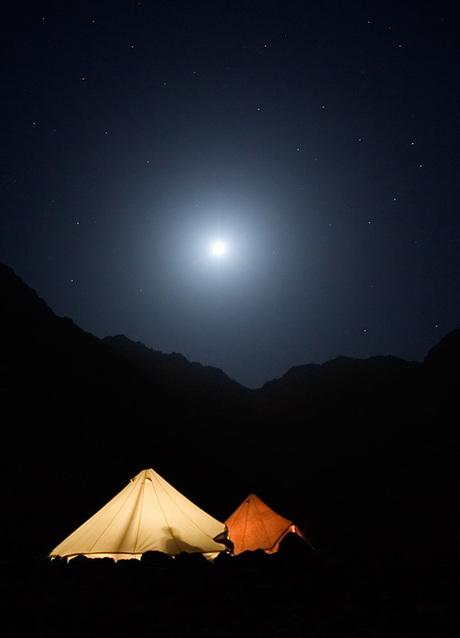 Campsite Lac d'Ifni by Night
