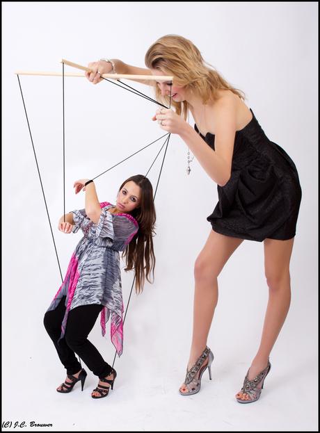 Cynthia met haar pop Farah