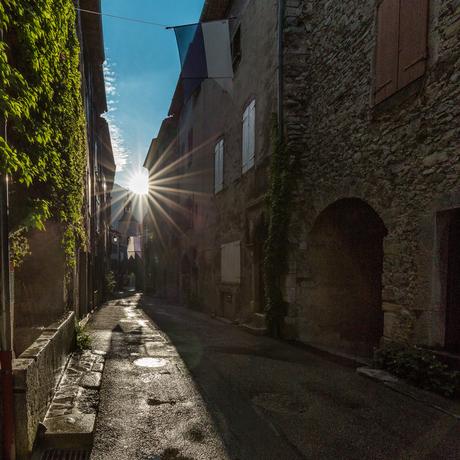 Morning sun in Chatillon en Diois