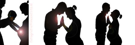 zwangerschap-silhouet-fotografie-ineenflits- - Nieuw leven. Eenheid. - foto door Kirsten Groeneveld op 12-04-2015 - deze foto bevat: man, vrouw, portret, liefde, tegenlicht, flits, kind, baby, zwanger, fotoshoot