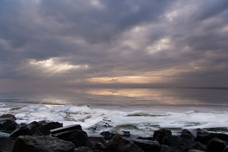 Langs de Afsluitdijk