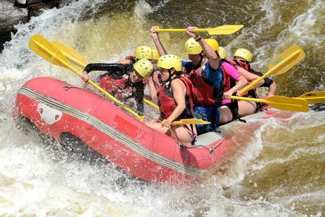 Rafting emotie