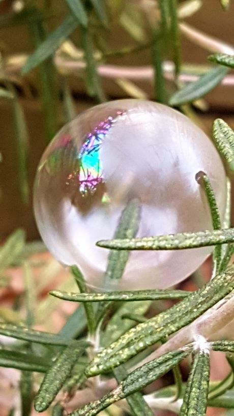 Opvriezende zeepbel