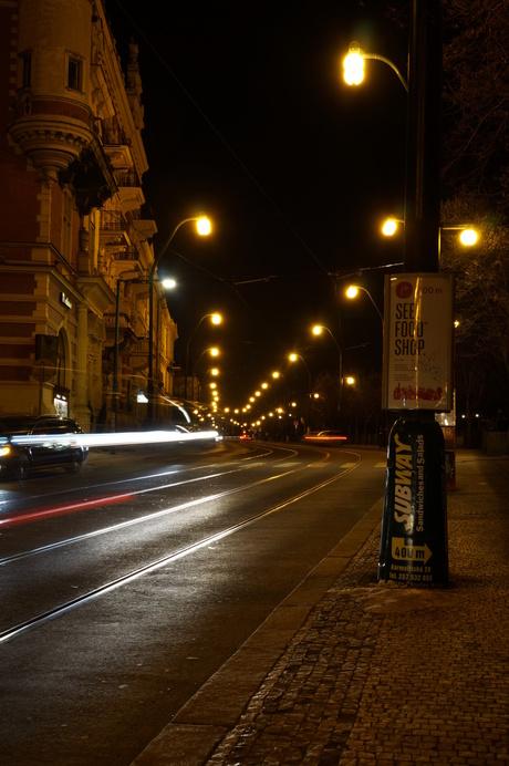 Nachtelijke straat