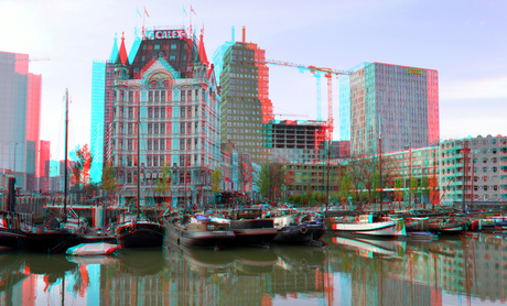 Oude-Haven Rotterdam 3D anaglyph