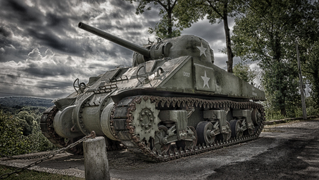 Monument 60e US Infantry Regiment en Shermantank