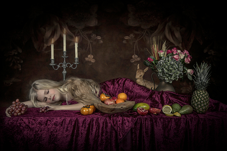 My still life of a sleeping beauty