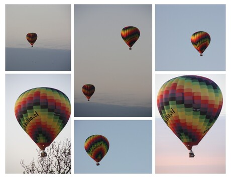 Luchtballonen boven Texel