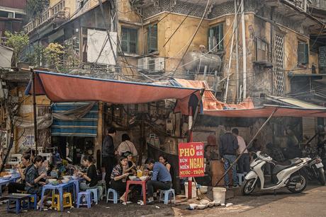 Straat leven Hanoi