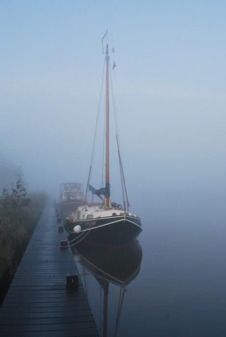 Foggie zeilboot.