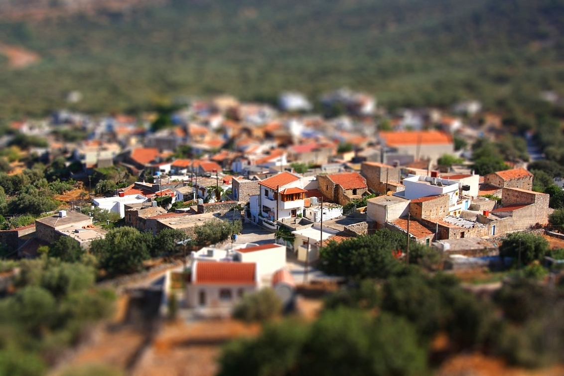 Greek mini Town - Greek town fake tiltshift miniature - foto door Jyme op 13-09-2010 - deze foto bevat: fake, town, miniature, tilt, shift, greek