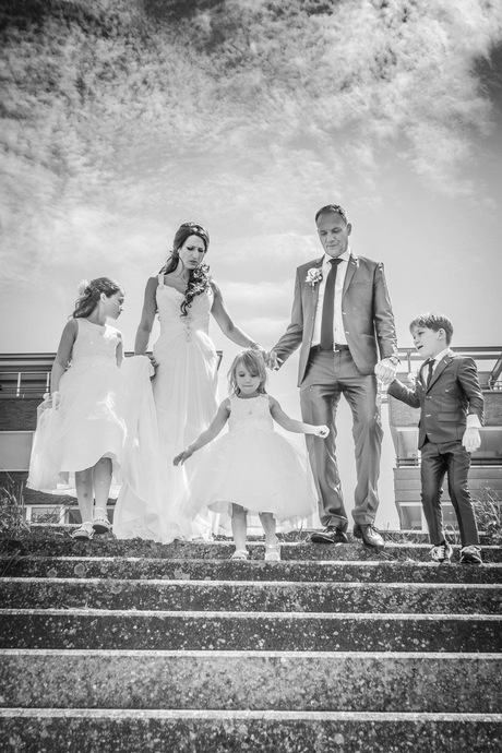 Happy wedding family