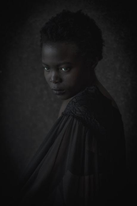 The girl with a veil