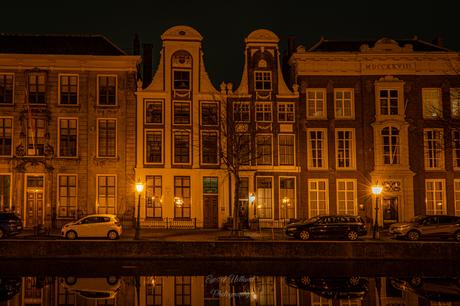 Oude huizen aan Rapenburg Leiden