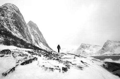 IJslandschap in Noord-Noorwegen
