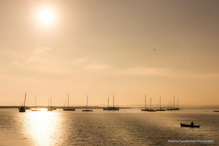 Sunset Alvor, Portugal - Foto van gistermiddag in Alvor, Portugal. - foto door mauricesundermann op 22-12-2014 - deze foto bevat: lucht, wolken, zon, zee, water, licht, boot, avond, zonsondergang, vakantie, spiegeling, landschap, tegenlicht, haven