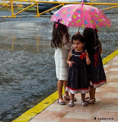 Kinderen in de regen ..Panama City