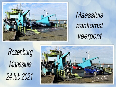 collage veerpont Maassluis Rozenburg 24 feb 2021