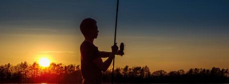 Fishing by sunset