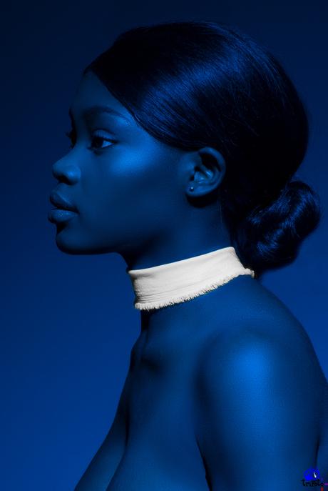 Blauw portret