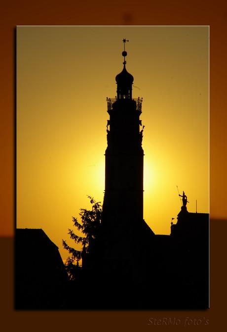 Zonsondergang boven Rothenburg (D)