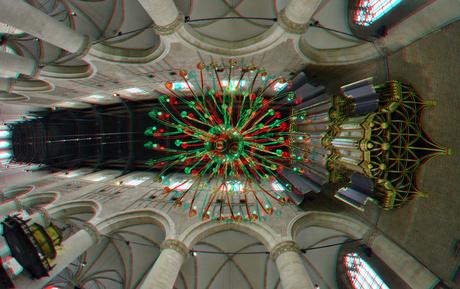Pieterskerk Leiden 3D fish-eye