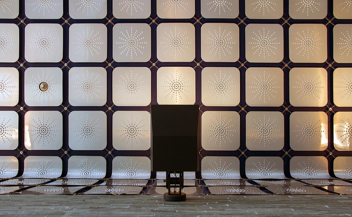 Beeld en Geluid 3 - Beeld en Geluid Hilversum - foto door nak-kos op 08-03-2016 - deze foto bevat: lijnen, architectuur, plafond, raster