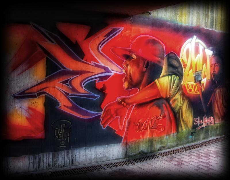 Straatkunst @ Brugge - Stukje straatkunst in Brugge - foto door thuban op 30-03-2010 - deze foto bevat: straat, kunst, graffiti, belgie, brugge